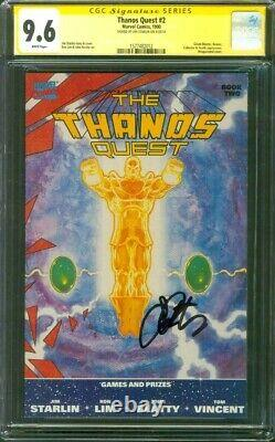 Thanos Quest 2 Cgc 9.6 Ss Jim Starlin Sign Thanos Avengers Endgame Film 1990