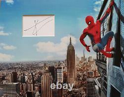Tom Holland Signé 14x11 Afficheur Photo Spider-man & Avengers Endgame Coa