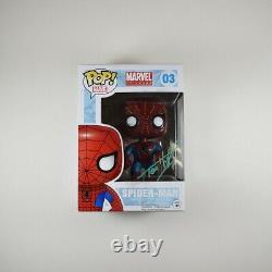Tom Holland Spider-man Endgame Avengers Autographed Signé Funko Pop Psa / Dna Coa