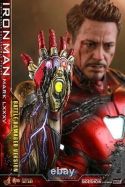 Tony Stark Avengers Endgame Film 1/6 30 CM (lxxxv Battle Endommagé) Hot Toys